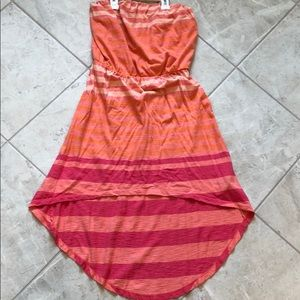 Express strapless high-low dress